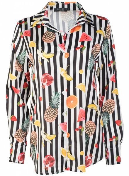 Rebelz Collection Blouse fruit zwart