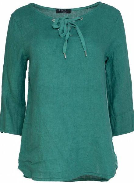 Rebelz Collection Blouse linnen Emma gucci groen