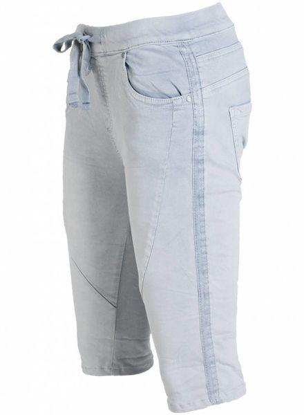 Gemma Ricceri Korte broek glitterbies jeansblauw