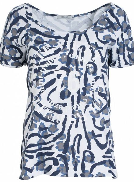 Vera Jo Shirt camouflage blauw