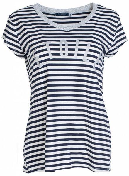Gemma Ricceri Shirt streep Etiole blauw/wit