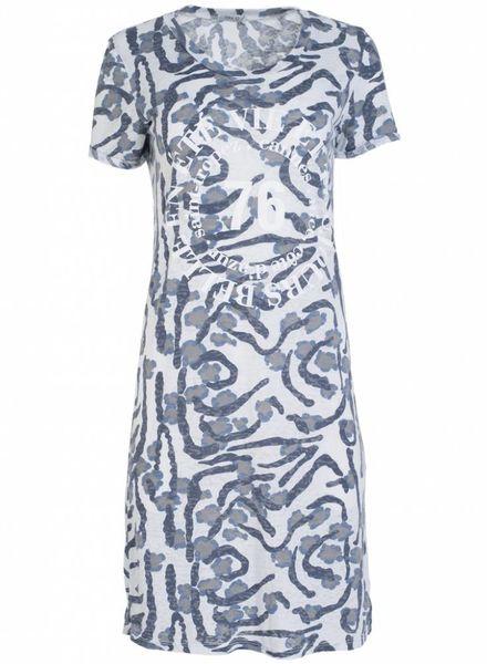 Gemma Ricceri Jurk Marilot camouflage blauw