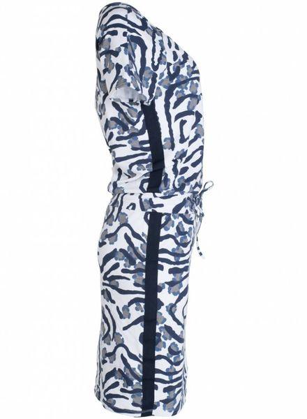 Gemma Ricceri Jurk camouflage blauw
