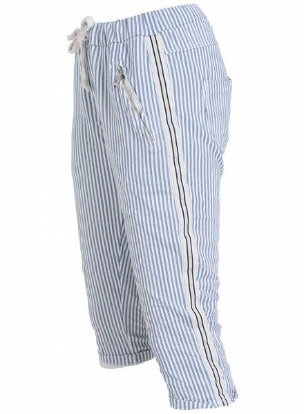 Gemma Ricceri Capri Kora streep wit/blauw