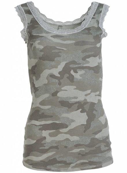 Gemma Ricceri Top kant camouflage groen