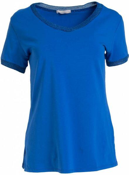 Gemma Ricceri Shirt lurex bies kobalt