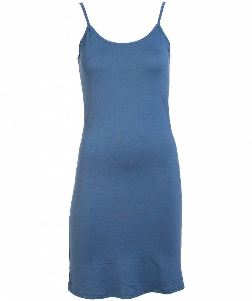 Gemma Ricceri Top spaghetti basic jeansblauw