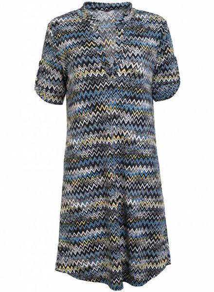 Gemma Ricceri Jurk Missoni print zwart/jeansblauw