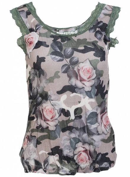 Gemma Ricceri Top leger bloem groen kant