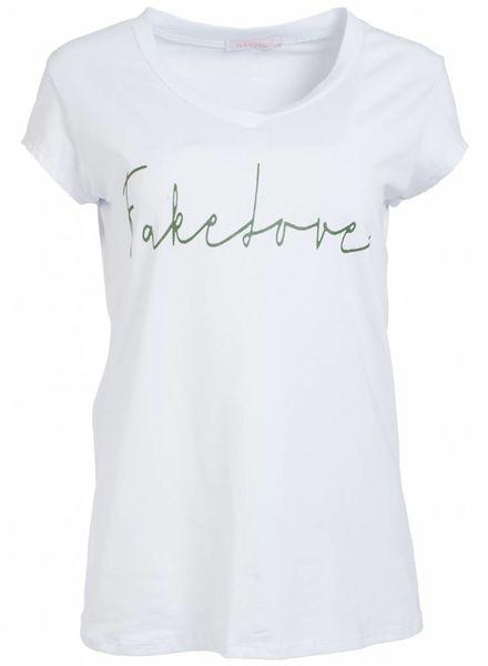Gemma Ricceri Shirt fake love wit/groen