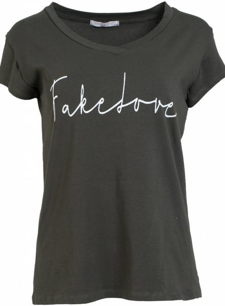 Gemma Ricceri Shirt fake love groen