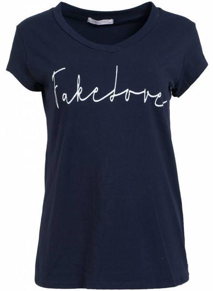 Gemma Ricceri Shirt fake love navy