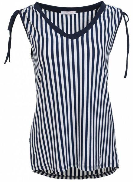 Gemma Ricceri Shirt streep Kelly blauw/wit