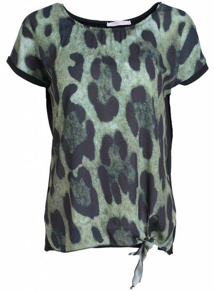Gemma Ricceri Shirt panter Vera groen