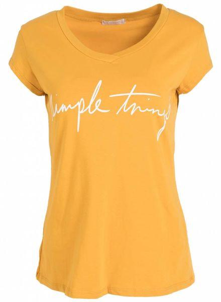 Gemma Ricceri Shirt simple things oker