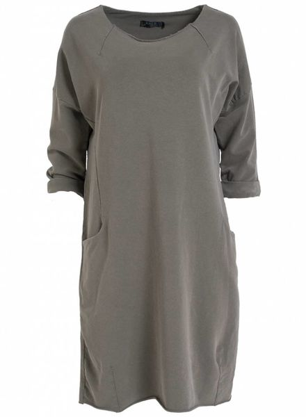 Rebelz Collection Sweaterdress Amber groen