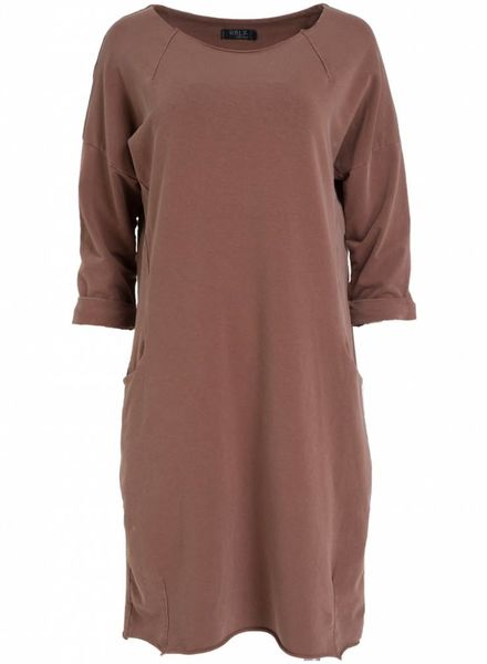 Rebelz Collection Sweaterdress Amber bruin