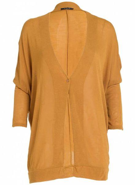 Rebelz Collection Vest basic knoop okergeel