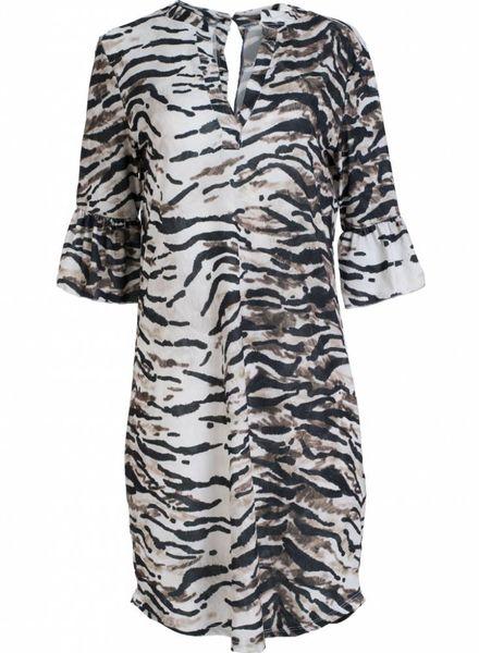 Gemma Ricceri Jurk zebra Shirley beige