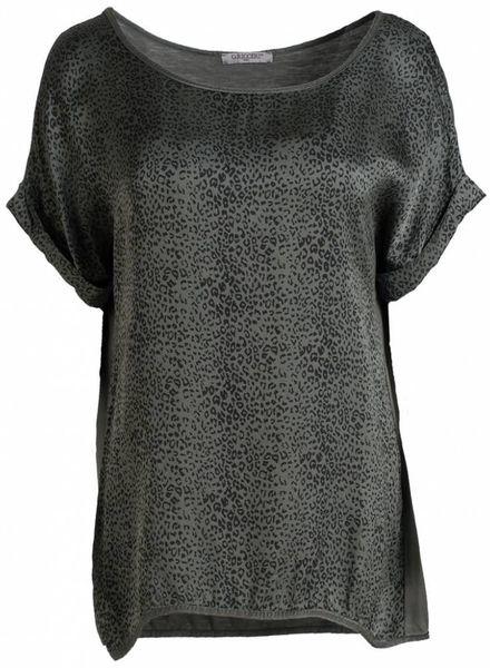 Gemma Ricceri Shirt silk touch print groen