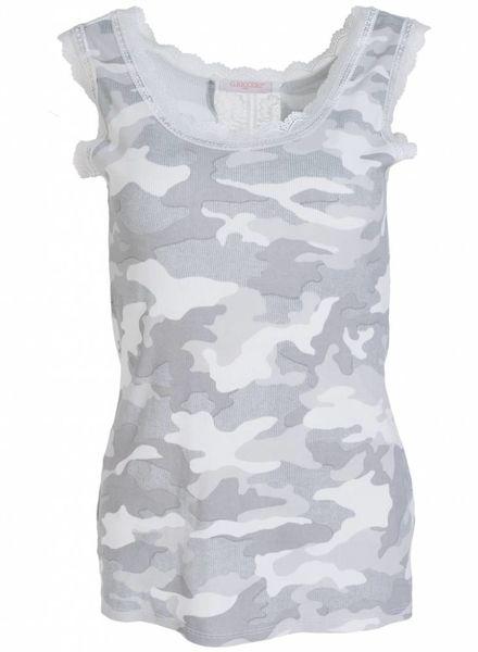 Gemma Ricceri Top kant camouflage grijs