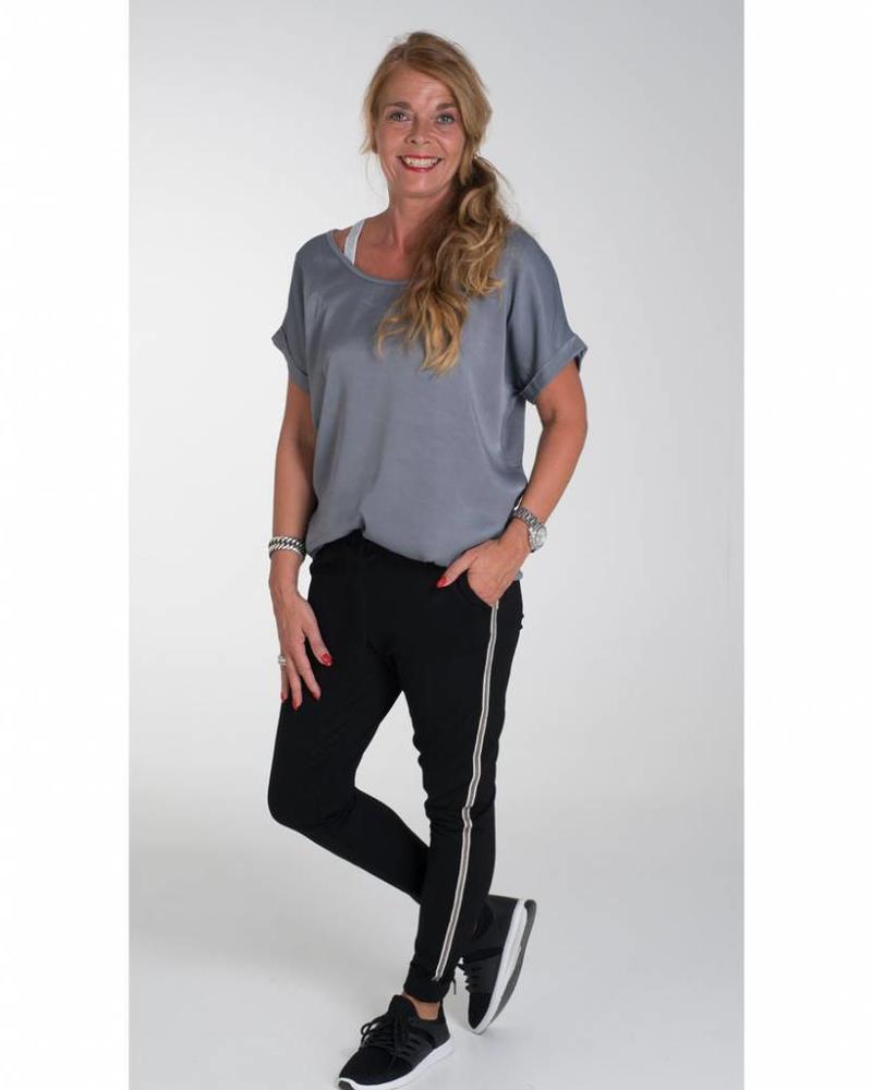 Rebelz Collection Broek Michelle zwart/grijs