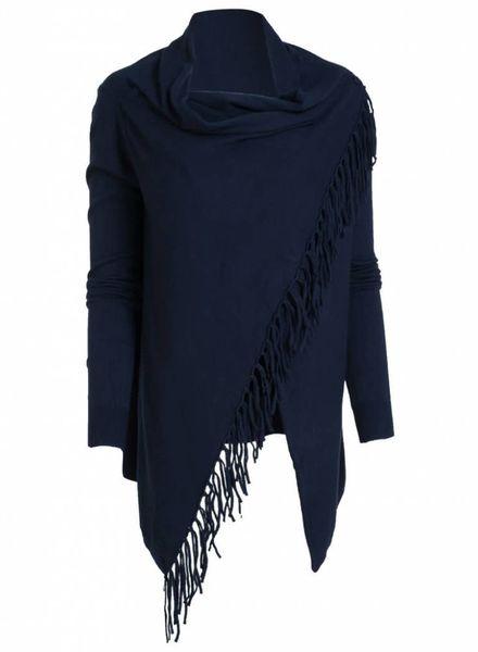Rebelz Collection Vest franje Kady donkerblauw