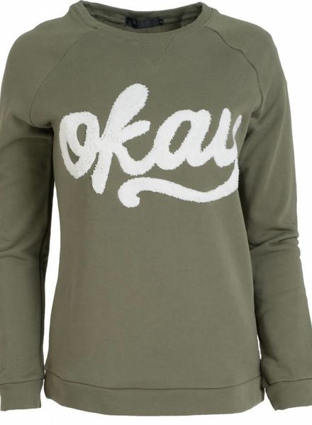Rebelz Collection Sweater OKAY groen