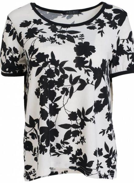 Rebelz Collection Shirt Odet zwart/wit