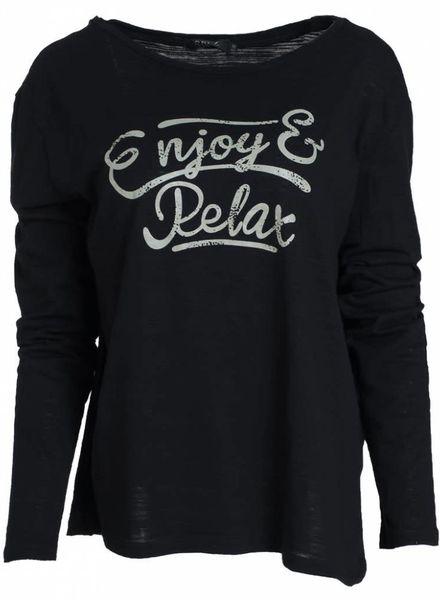 Rebelz Collection Shirt Enjoy zwart