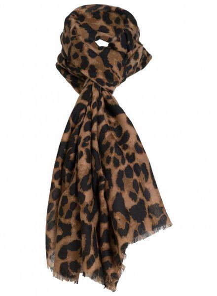 Sjaal panter Alene bruin