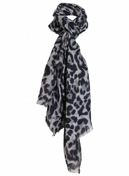 Sjaal panter Alene zwart