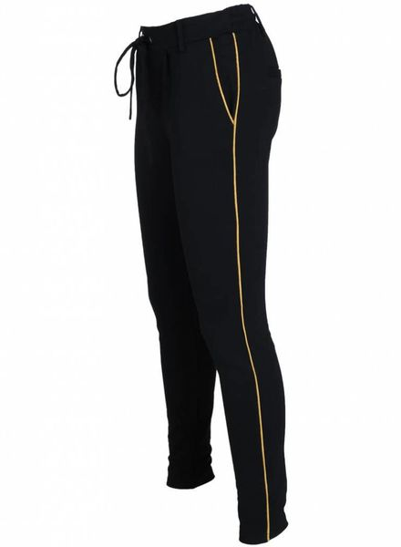 Rebelz Collection Pantalon Meggie zwart/okergeel