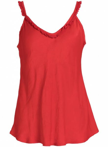 Rebelz Collection Top zijde fleur rood