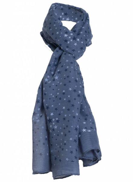 Sjaal kleine ster blauw