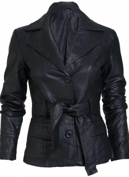 Gemma Ricceri Jasje  leather look zwart