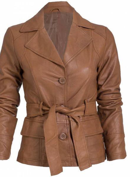 Gemma Ricceri Jasje leather look camel