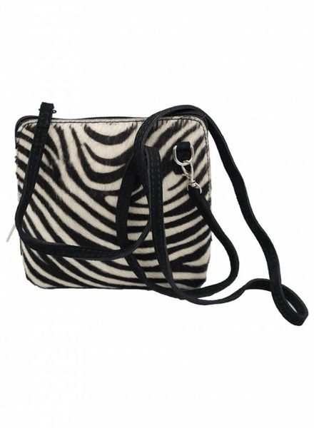 Rebelz Collection Tas zebraprint leer