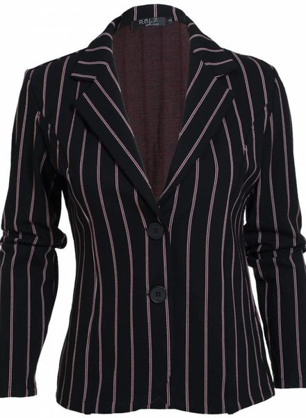 Rebelz Collection Blazer Logan bies zwart/rood