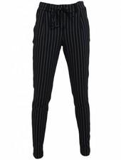 Rebelz Collection Broek Logan streep zwart/wit