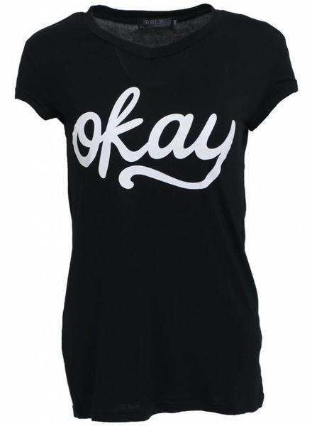 Rebelz Collection Shirt Okay zwart/wit