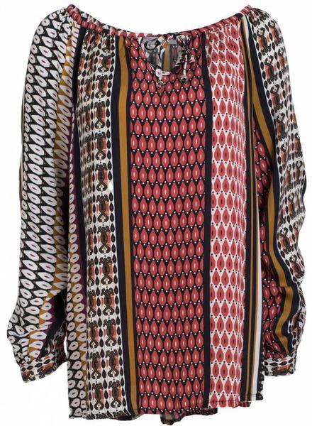 Gemma Ricceri Blouse Jolien multicolor rood/paars