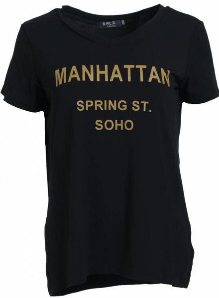 Rebelz Collection Shirt Manhattan zwart/okergeel
