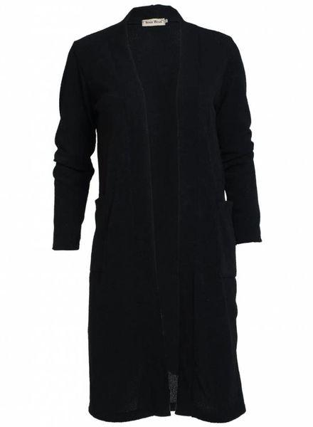 Vest basic zwart