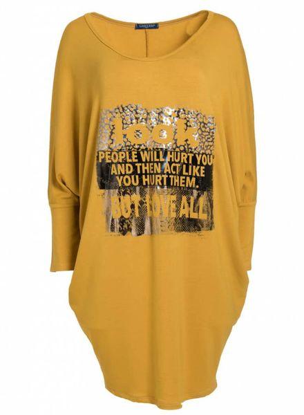 Gemma Ricceri Shirt big people oker