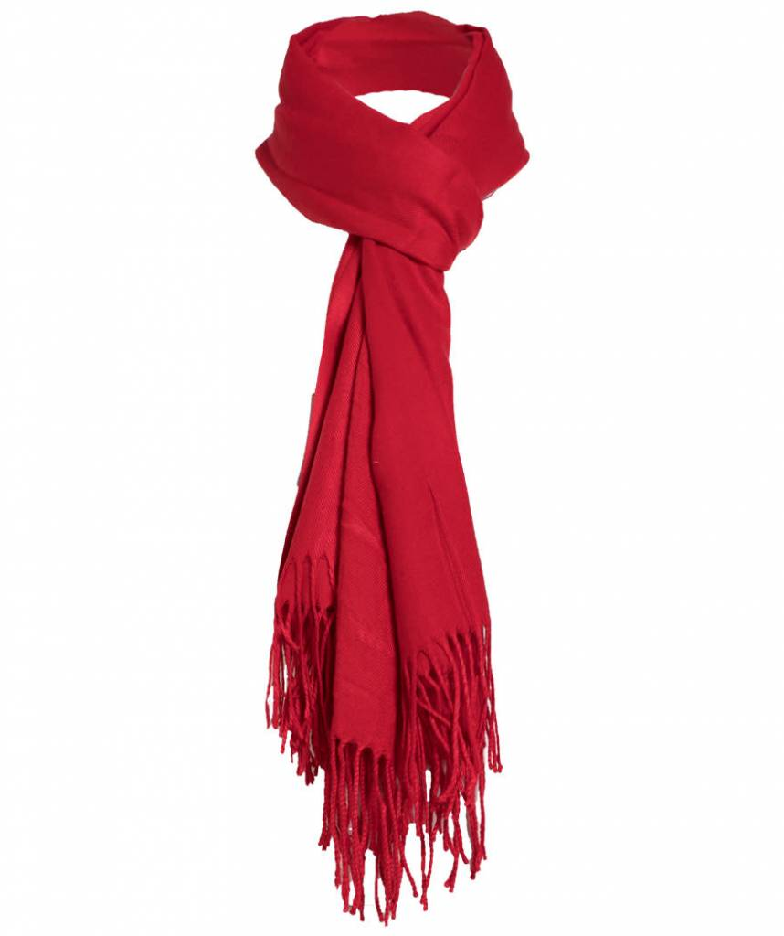 Sjaal cashmere rood