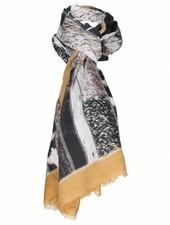 sjaal animal okergeel