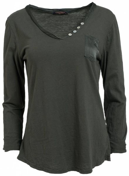 Gemma Ricceri Shirt basis Siri groen