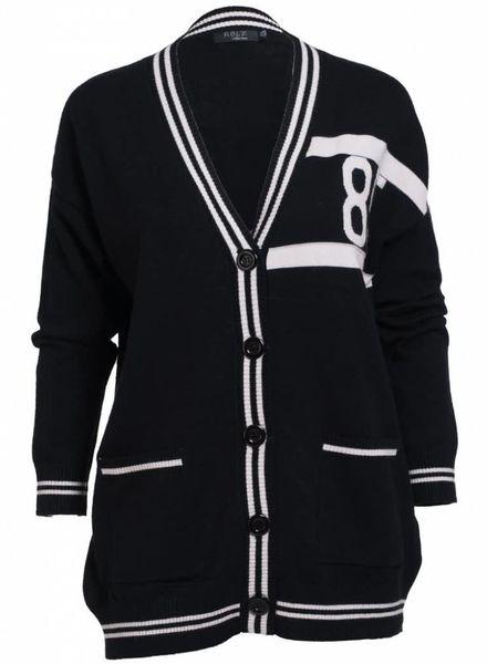 Rebelz Collection Vest 85 zwart/wit