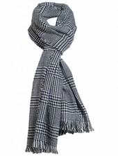 Sjaal ruit zwart/wit